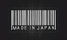 sticker decal car bike bumper macbook jdm tunning made japan barcode white vinyl