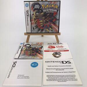 Nintendo DS Pokemon Platinum Version Case Manual Inserts Only NO GAME
