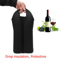 Wine Bottle Neoprene Tote Carrier 2 Bottle Protective Cover Sleeve 350*230*5mm