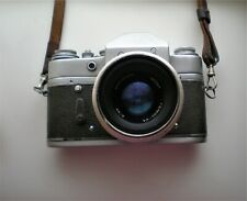 Vintage Russian USSR ZENIT 3 Black Body 35mm SLR Camera With Helios Lens 44 2/58