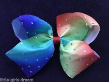 Rainbow Mom Hair Bow Clips for Girls