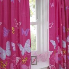 Textile Warehouse Butterfly Pink Polka Dot Girls Kids Childrens Pencil Pleat Lined Curtains 66 X 72