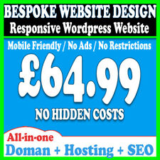 WEBSITE DESIGN SERVICE - DOMAIN & HOSTING INCLUDED - MOBILE FRIENDLY