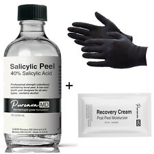 10-40% SALICYLIC ACID Skin/Face Chemical Peel Kit -for Oil Acne Rosacea Wrinkles