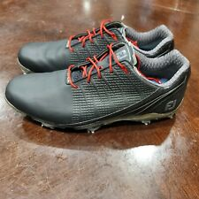 New listing Footjoy DNA 2.0 Golf Shoes Removable Spikes Cleats Black Red 53385 Size 10.5 M
