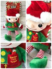 Elf Christmas Cuddly Soft Toy Plush Behave Yourself Large Leave Your Messages