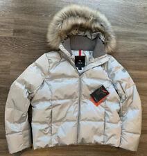 NWT Fera Chloe Faux Fur Down Ski Snow Jacket Coat Silver Womens Size 10