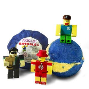 Ro-bath-Blox Surprise Fizzy Mango Scented Bath Bomb for Kids 430g Toy Inside