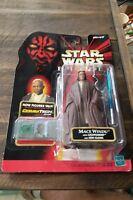 Hasbro Star Wars Episode 1 Mace Windu With Lightsaber Jedi Cloak action figure