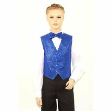 Kids Royal Blue Sequins Vest