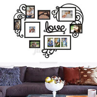 Home Decor Wall Sticker Heart Photo Frame Acrylic Collage Picture Art Family US
