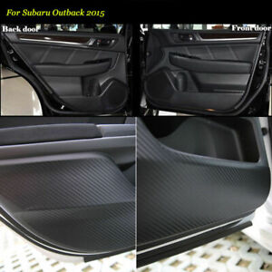 Carbon Fiber Door Side Anti-kick Protection Sticker Trim For Subaru Outback 2015