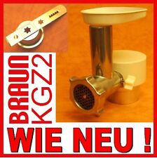 neuwertiger Fleischwolf Braun KGZ 2 für Küchenmaschine  KM32 KM3 MX3 mit GEWÄHRL