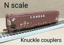 Conrail CR 3 bay PS covered hopper car N scale Scale Trains Rivet counter brown