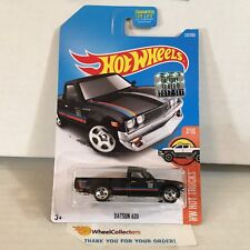 Datsun 620 #317 * BLACK * 2017 Hot Wheels FACTORY SET Edition * Y