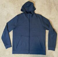 Lululemon Mens City Sweat Zip Hoody - Mens XL French Terry Heathered Blue