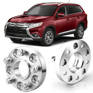 Wheel Spacers Centric Hub Adapters 5x4.5 67.1mm 12x1.5 For Mitsubishi Outlander