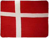 Denmark Cross Flag 50x60 Polar Fleece Blanket Throw