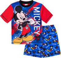 Disney Mickey Mouse Boys Pyjamas, Short Summer Pyjamas Pjs, Official Merchandise