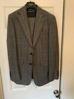 Charles Tyrwhitt Grey Check 3 Piece Slim Fit Suit Size 38 RRP£400