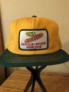 Vintage Trucker Hat. Dekalb. Mesh. Patch. Snapback. USA Made