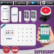 2017 KERUI W18 WiFi 2G GSM Touch Pad Wireless Burglar Alarm System Security