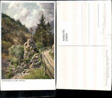 239433,Künstler AK Hugo Darnaut Glückskreuz in d. Walster b. Mariazell