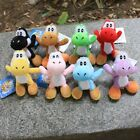 8Pcs/Set Super Mario Plush Doll Toy Colorful Yoshi Pendant 11CM Kids Gifts New