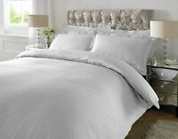 300 Thread Count Satin Stripe100%  Cotton Duvet Cover Sets All UK Sizes