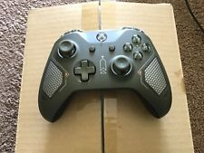 OFFICIAL XBOX ONE COMBAT TECH GREEN WIRELESS CONTROLLER 3.5MM BRAND NEW.