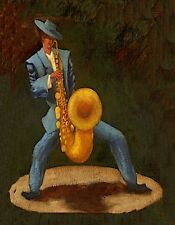 METAL MAGNET Man Zoot Suit Clothing Musical Instrument Saxophone MAGNET