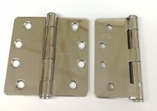 """3Pk Stanley Architectural Heavy 4"""" Bright Chrome Removable Pin Door Hinges - Usa"""