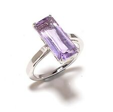Natural Gem Stones Amethyst 925 Sterling Silver Rings Us Size 6,7,8