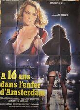 """""""A 16 ANS DANS L'ENFER D'AMSTERDAM"""" Affiche originale (Ann Gisel GLASS)"""