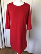 Gap Womens Red Midi Shift Dress 3/4 Sleeve Size Small