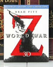 WORLD WAR Z 3D -- BLU-RAY w/ SLIPCASE + DIGITAL -- I SHIP BOXED
