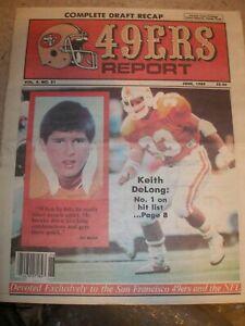June 1989 V#4 #21 San Francisco 49ers Report - Keith DeLong Linebacker Top Draft