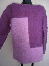 mod 60s lavender sweater Vintage ULLA By Vicki Cooper COLOR BLOCK POODLE WOOL