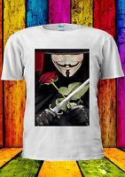 V For Vendetta Anonymous Mask Guy T-shirt Vest Tank Top Men Women Unisex 322