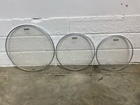 Mapex Resonant Tom Rock Size Drum Heads Skins Set Of 3