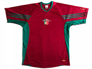 ADIDAS NATIONAL PORTUGAL TEAM UEFA EURO 2004 SOCCER JERSEY SHIRT MENS SIZE M RED