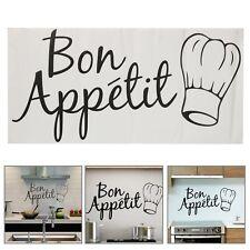 Bon Appétit Kitchen Wall Art Decal Vinyl Sticker Home Dinning Room Fridge Decor