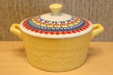 The Pioneer Woman Yellow Mini Casserole Pan with Floral Lid