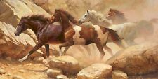 """Into Blanco Canyon"" Bonnie Marris Western Horse Canvas"