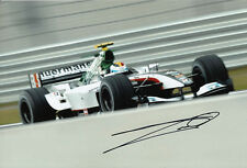 Bas Leinders Hand Signed Minardi Cosworth Photo 12x8 5.