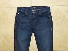 (28) 7 For All Mankind Roxanne Skinny dark blue stretch Gold Luxes Piping