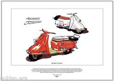 Heinkel Tourist - Fine Art Print Upmarket 4-Stroke Scooter from the 50's & 60's
