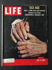 Life Magazine July 13 1959  Old Age