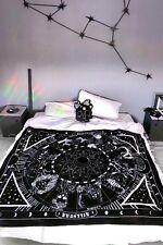 Killstar Zodiac Calendar Blanket NEW Board Goth Horoscope Witch Moon Phases Ghou