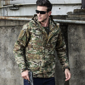 Mens Tactical Military Jacket Combat M65 Field Outdoor Army Casual Coat Hooded